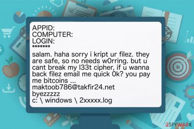 The image of Mobef-Salam ransomware