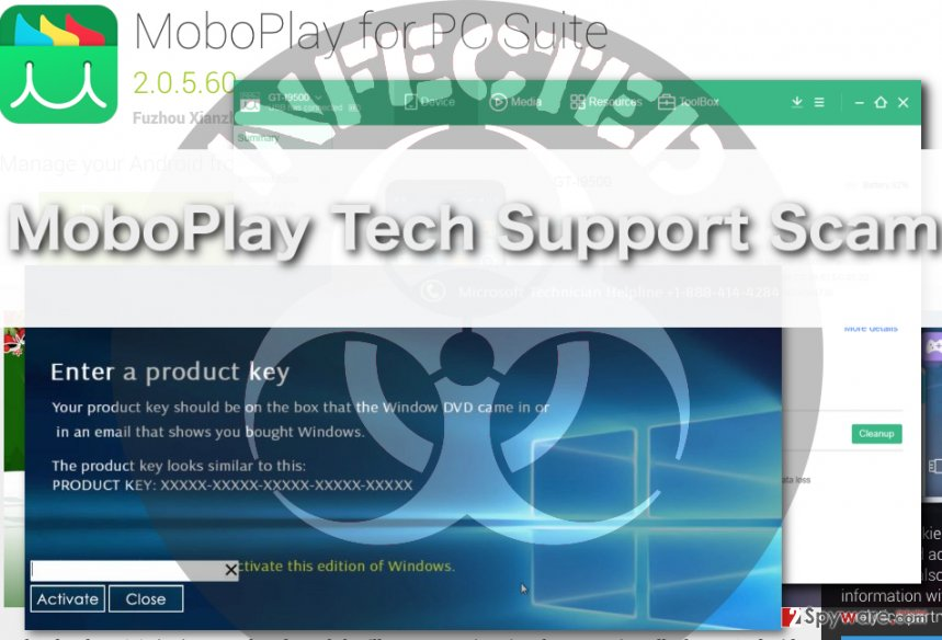 image of mogoplay tech support scam virus