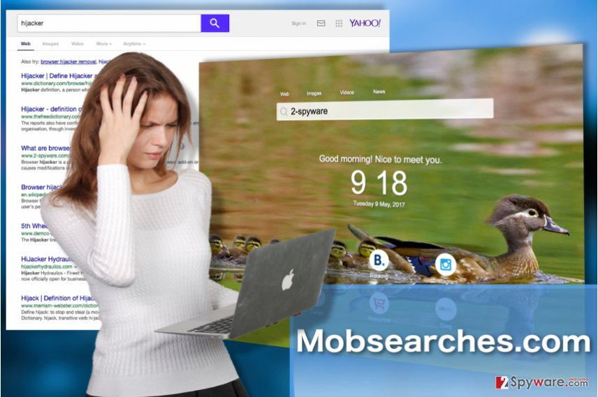 Image of the Mobsearches.com hijacker