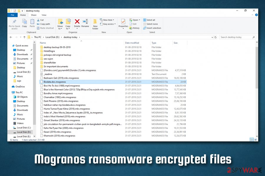 Mogranos ransomware infection