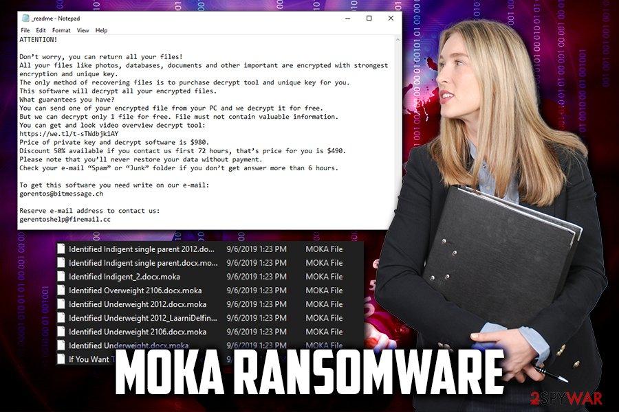 Moka ransomware virus