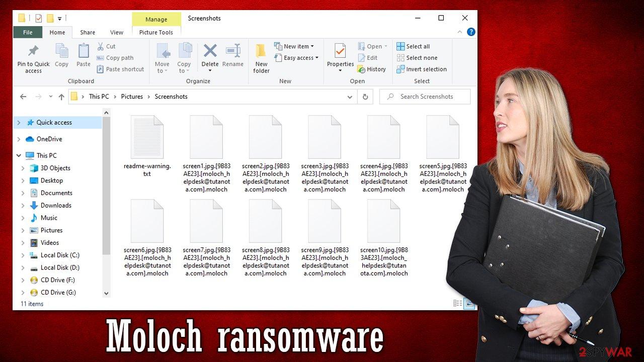 Moloch ransomware virus