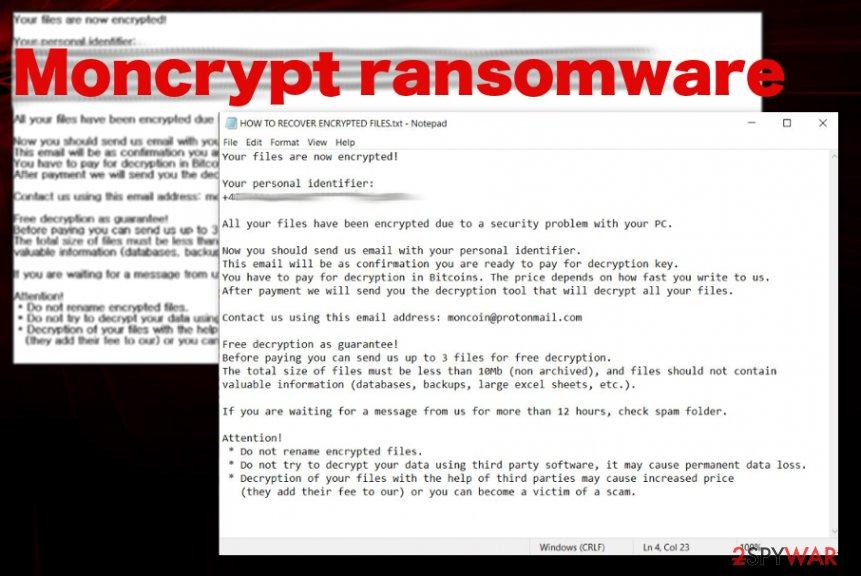 Moncrypt ransomware