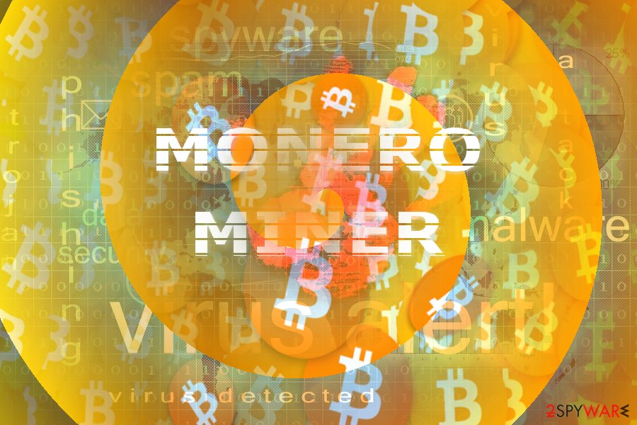 The picture illustrating Monero Miner concept