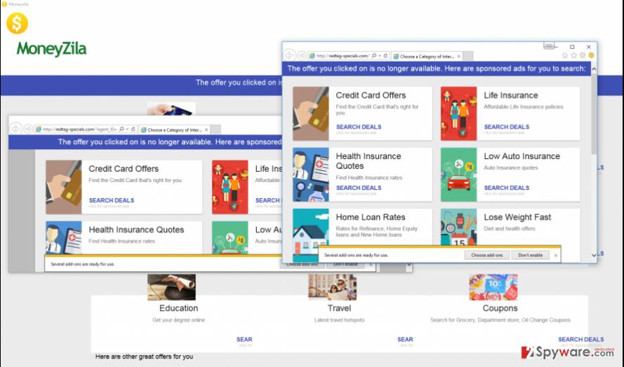 Moneyzila software screenshot