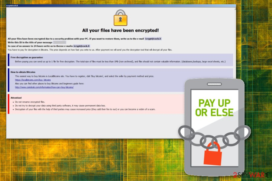 Monro ransomware virus