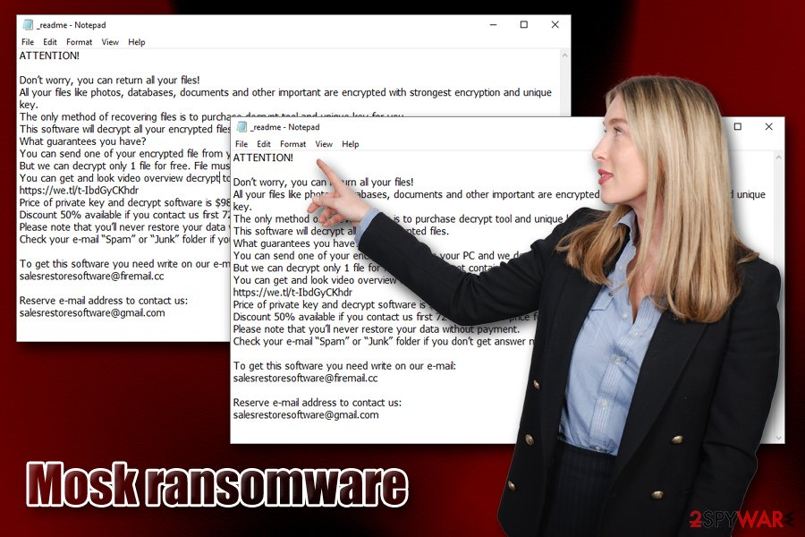 Mosk ransomware virus