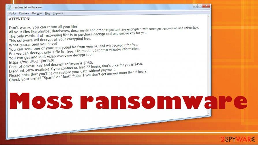 Moss ransomware