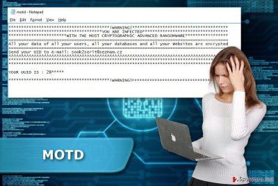MOTD ransomware virus
