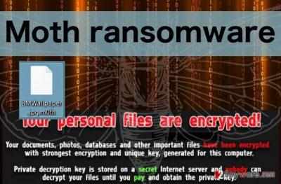 An illustration of Moth ransomware virus