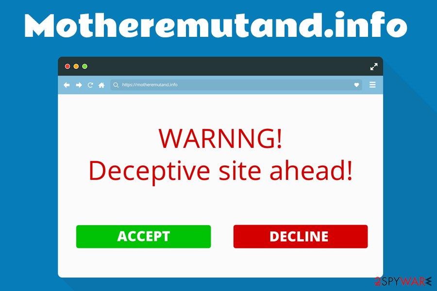 Motheremutand.info adware