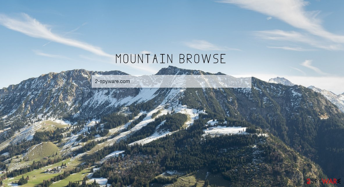 An illustration Mountainbrowse.com virus