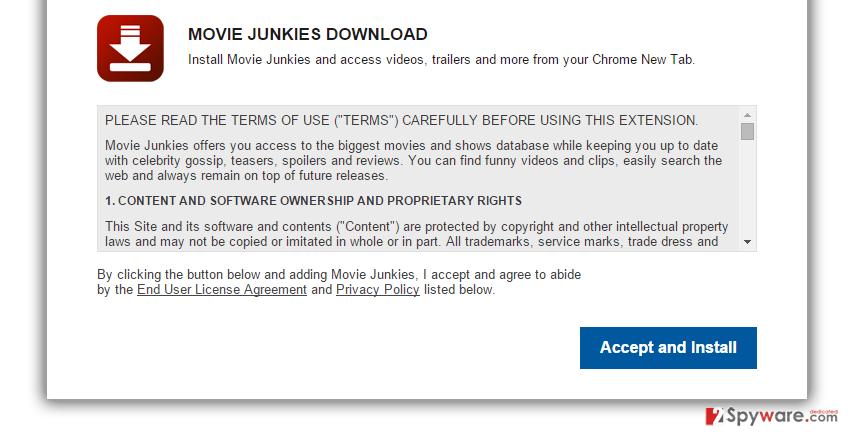 MovieJunkies New Tab