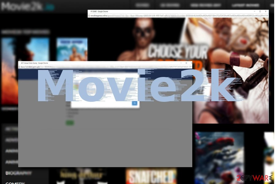 The example of Movie2k ads