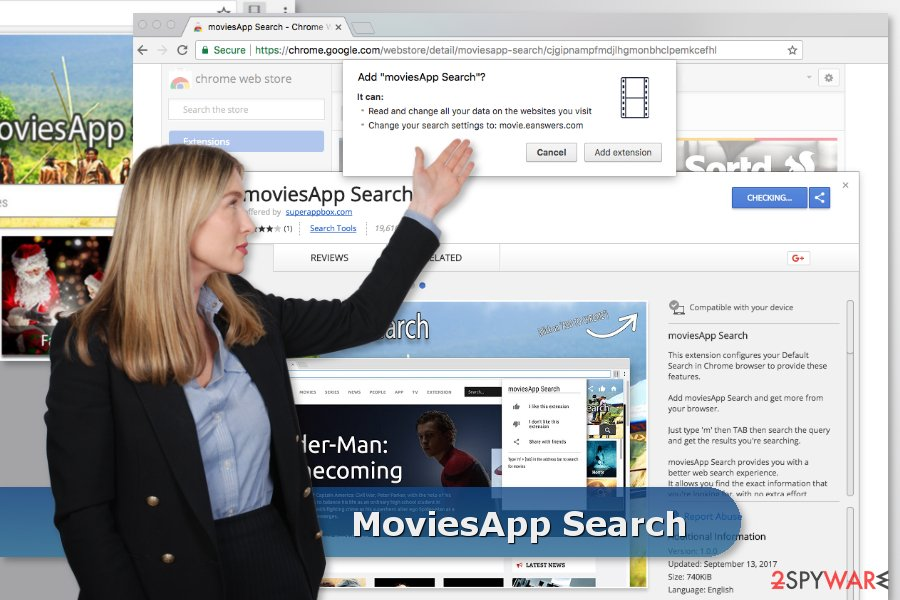 The image of MoviesApp Search download site