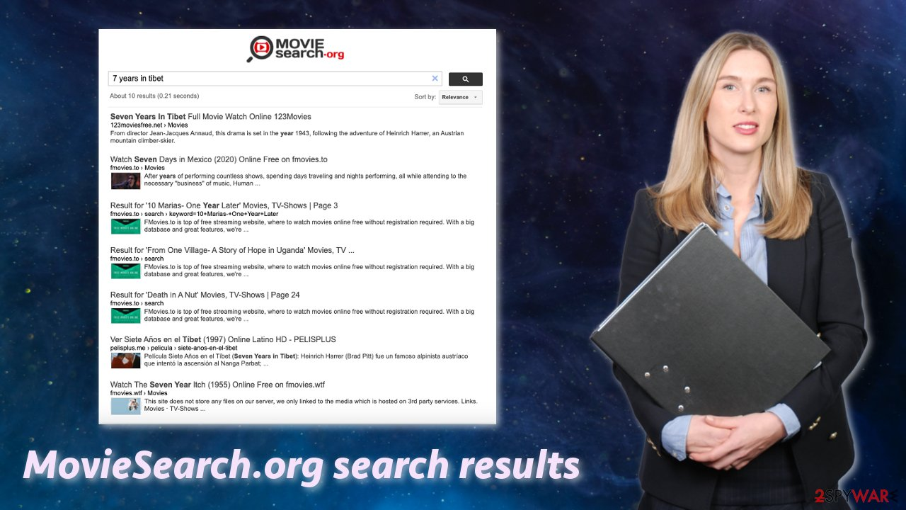 MovieSearch.org search results
