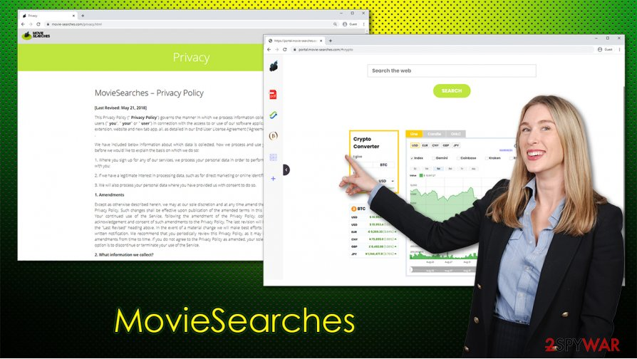 MovieSearches hijacker