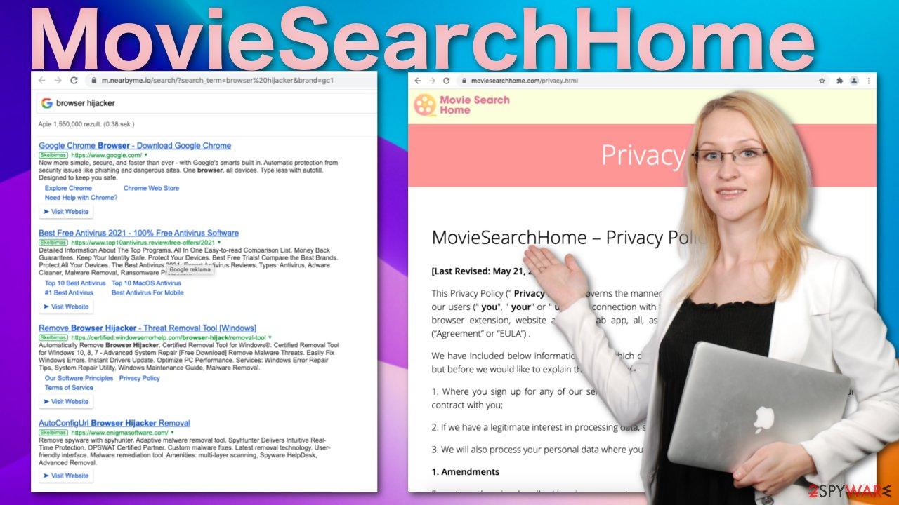 MovieSearchHome browser hijacker