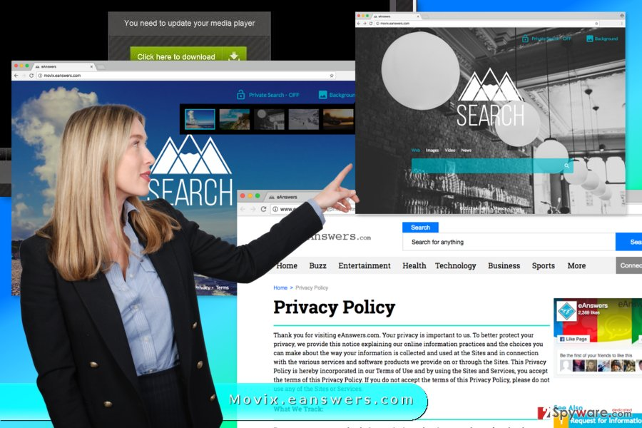 Image of Movix.eanswers.com virus