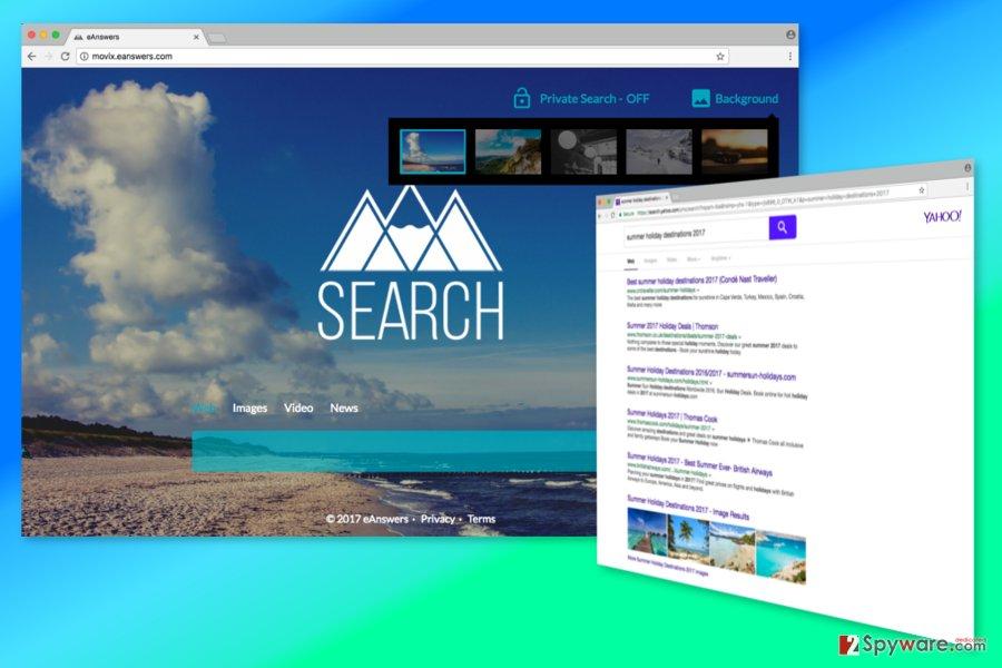 Screenshot of Movix.eanswers.com