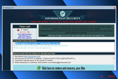 Ransom note by MoWare H.F.D ransomware virus