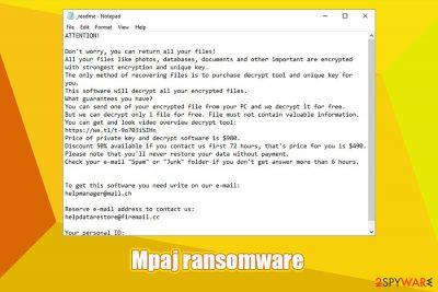 Mpaj ransomware