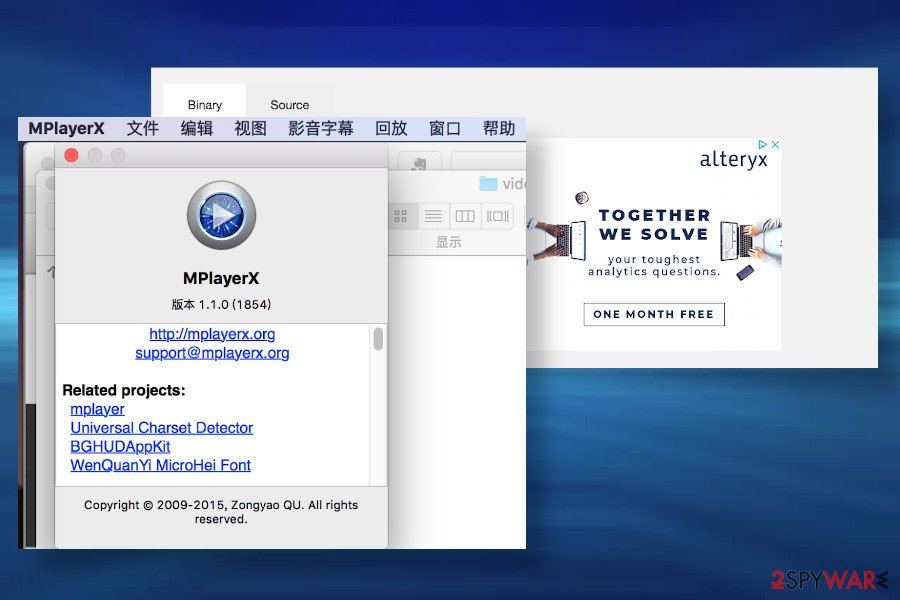 MplayerX installer