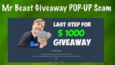 Mr Beast Giveaway POP-UP Scam