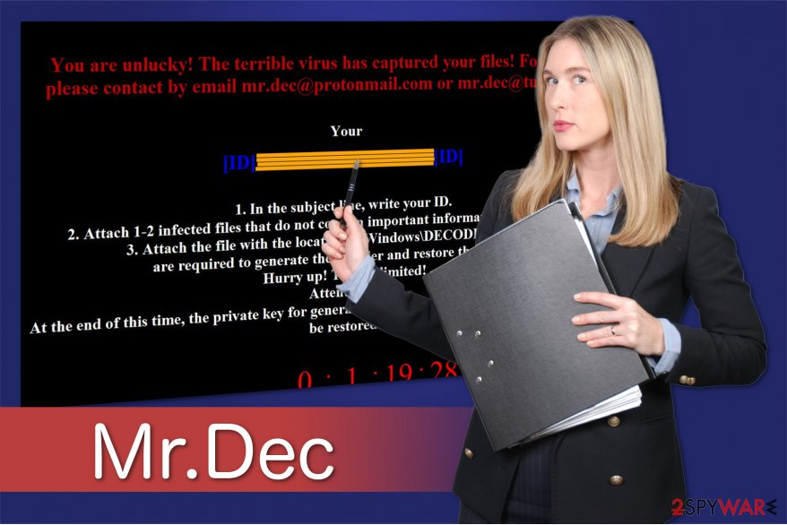 Mr. Dec Ransomware illustration