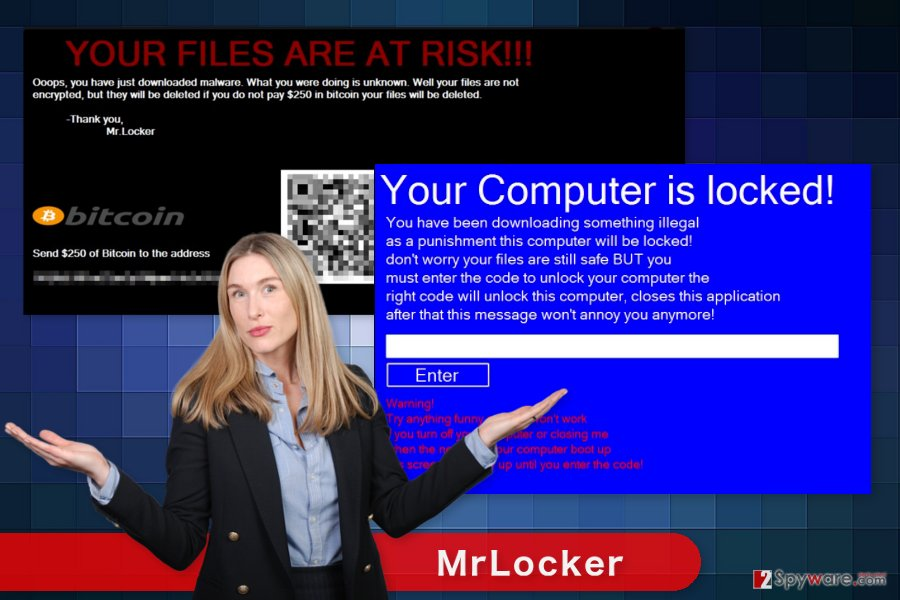The picture of MrLocker ransomware virus