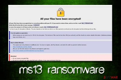 ms13 ransomware