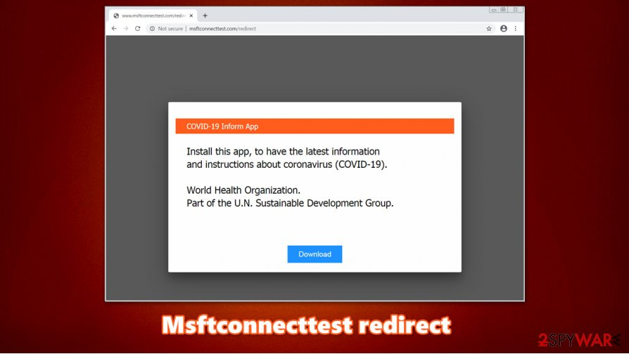Msftconnecttest redirect