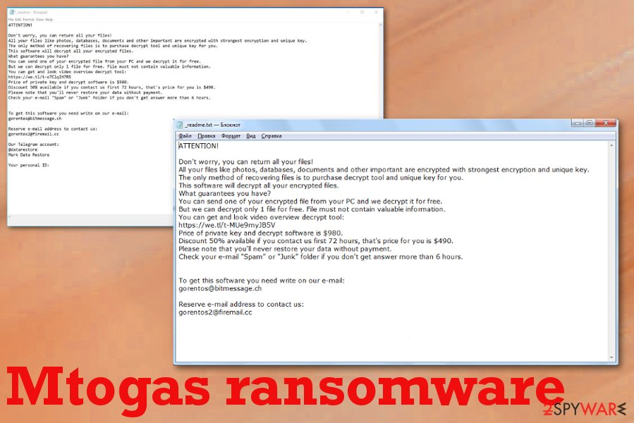 Mtogas ransomware