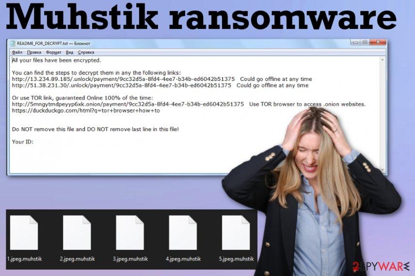 Muhstik ransomware virus