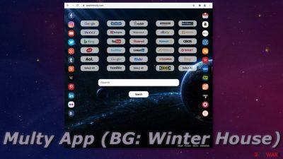 Multy App (BG: Winter House)