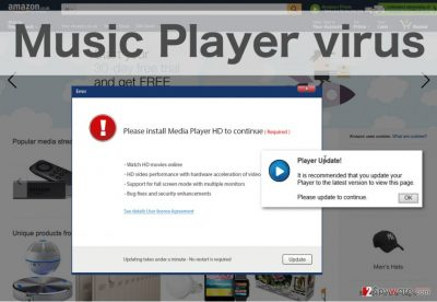 An example of Music Player ads