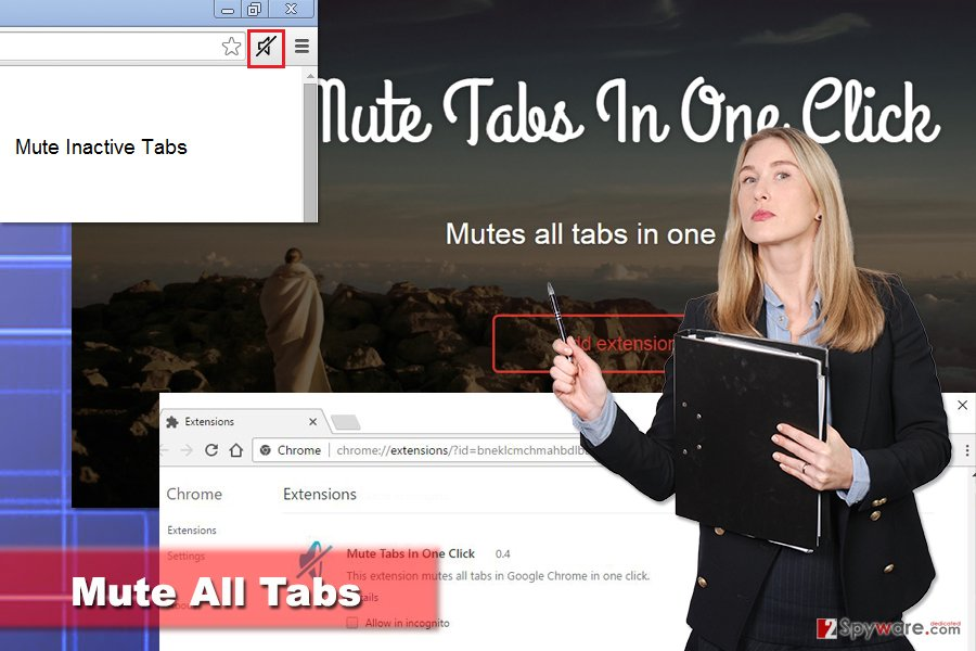 The illustration of Mute All Tabs