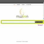 The image of Chrome hijack with Muzeen.com virus