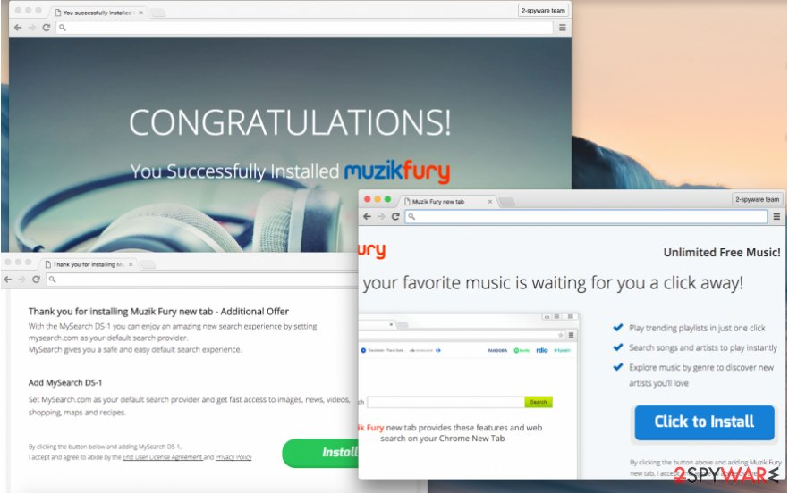 Muzik Fury redirects can lead you to unreliable web sources
