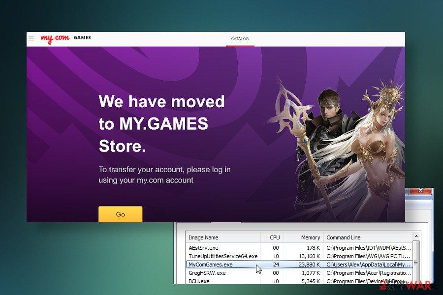 My.com game center virus