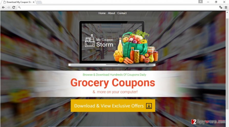 My Coupon Storm adware