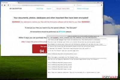 My Decryptor ransomware attack