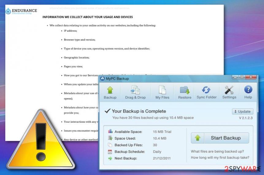 MyPC Backup virus