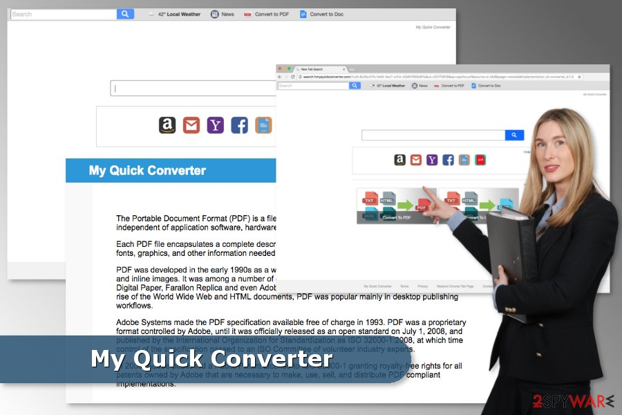 My Quick Converter browser hijacker