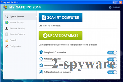 My Safe PC 2014 snapshot