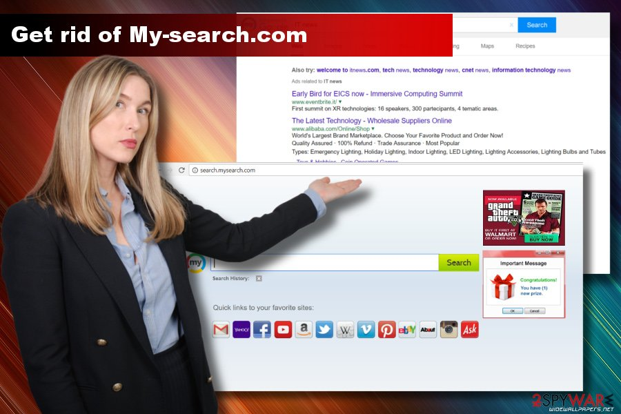 My-search.com hijacks Google Chrome