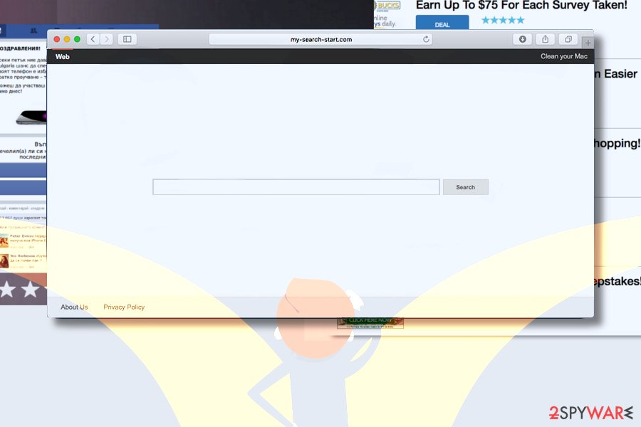 Suspicious My-search-start.com virus