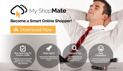 A screenshot of the My ShopMate virus