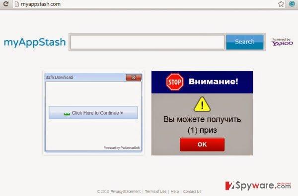 MyAppStash Toolbar snapshot