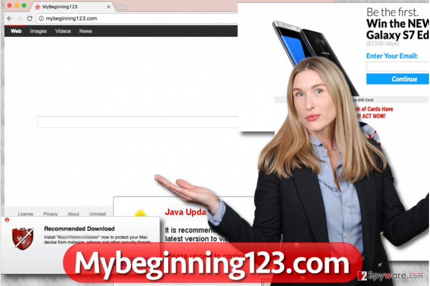 Mybeginning123.com browser hijacker